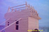 Строительство фронтонов мансардного этажа из бруса 150х150мм